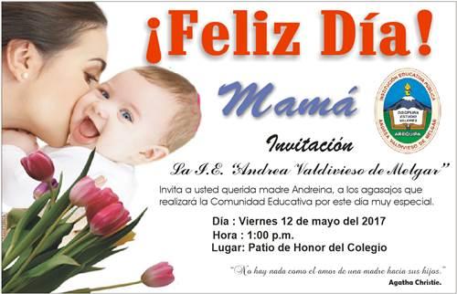 Invitación al Día de la Madre 2017