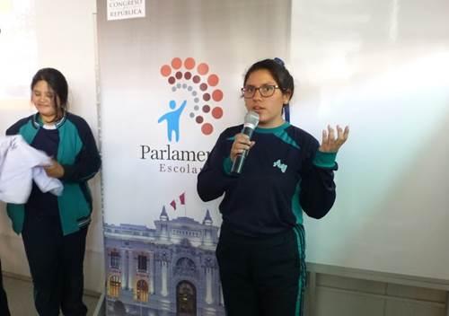 Parlamento Escolar 2017 Andrea Valdivieso de Melgar