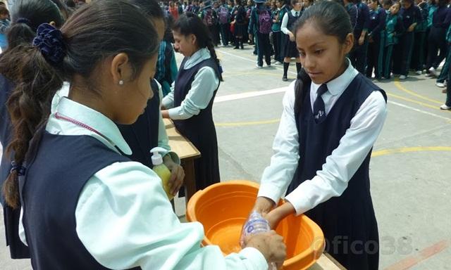 Lavado de manos IE Andrea Valdivieso de Melgar