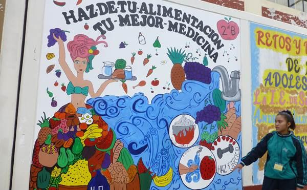 Ganadora del concurso de murales 2017