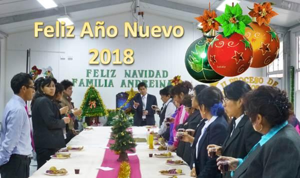 Feliz Año Nuevo 2018 IE Andrea Valdivieso de Melgar