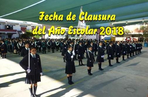 Clausura del Año Escolar 2018