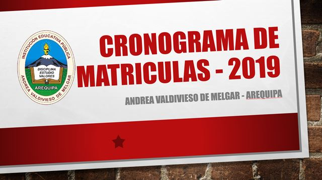 Matricula 2019
