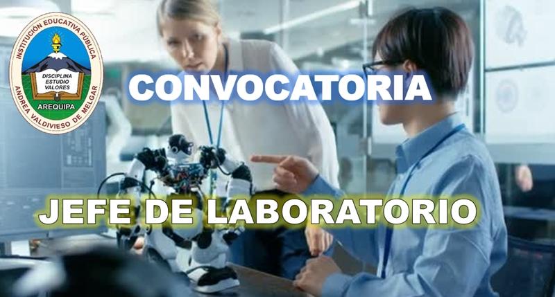 convocatoria para jefe de laboratorio