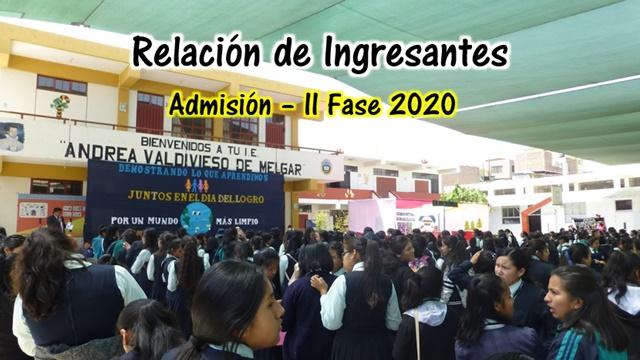 relacion de ingresantes 2020 - ii fase