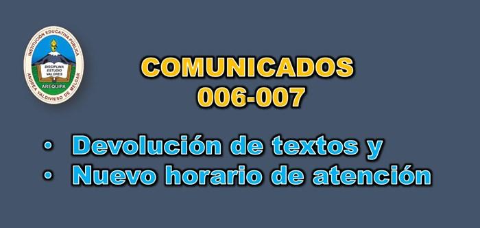 Comunicado 006-007