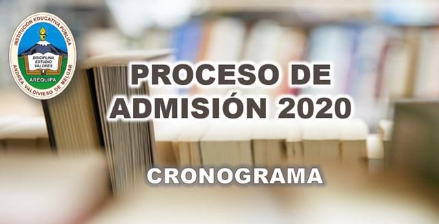 cronograma de admision 2020